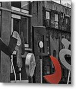 High Line Joy Black And White Metal Print
