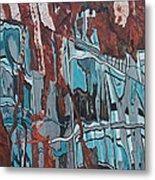 High Line Reflection 2 Metal Print