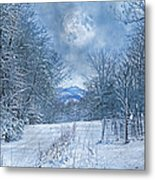 High Peak Mountain Snow Metal Print