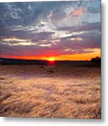High Plains Sunrise Metal Print by Ric Soulen