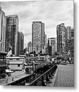 high rise apartment condo blocks in the west end coal harbour marina Vancouver BC Canada Metal Print