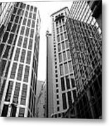 High Rise Building In The Financial Center Of Hong Kong Metal Print