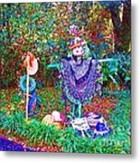 High Satch Scarecrow In A Hat Metal Print