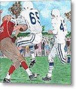 High School Football Metal Print