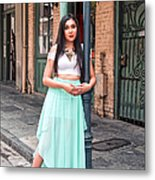 High School Senior Portrait French Quarter New Orleans Metal Print