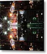 High Street Reflection Metal Print