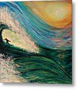 High Surf Metal Print