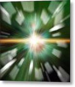 High Tech Style Exploding Background Image Metal Print