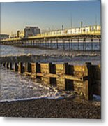 High Tide Approaching Metal Print