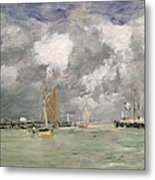 High Tide At Trouville Metal Print