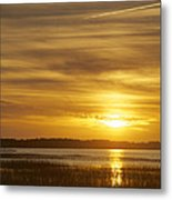 High Tide In The Marsh Metal Print by Phill Doherty