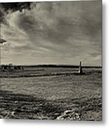 High Tide Of The Confederacy Black And White Metal Print
