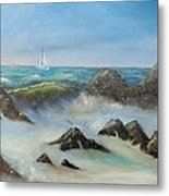 High Tide Metal Print
