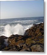 High Wave At The Oregon Coast Metal Print by Yvette Pichette