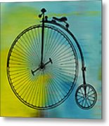 High Wheel Bicycle Metal Print
