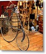 High Wheel 'penny-farthing' Bike Metal Print by Christine Till