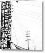 High Wire Suicide Rescue Metal Print