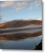 Highland Mists On Water Metal Print