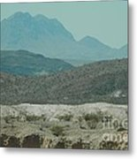 High And Low Mountain Layers Metal Print