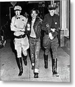 Highway Patrolmen And Police Officer Hollister July 7 1947 Metal Print