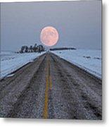 Highway To The Moon Metal Print