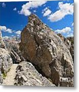 hike in Dolomites Metal Print