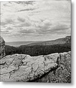 Hikers Standing On The Rocks, Gertrudes Metal Print