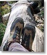 Hiking Boots Metal Print