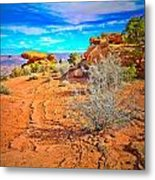Hiking In Canyonlands Metal Print