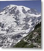 Hiking Mt Rainier Metal Print