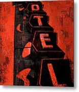 Hilander Motel Lll Metal Print