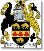 Hill Coat Of Arms II Irish Metal Print