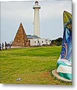 Hill Lighthouse Built In 1861 And Donkin Memorial Pyramid Honoring The Wife Of Sir Rufus Donkin-sout Metal Print