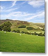 Hill Range North Of Edale Metal Print