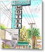 Hillcrest Motel In Route 66 - Andy Devine Ave In Kingman - Arizona Metal Print