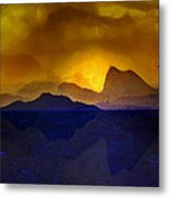Hills In The Distance At Sunset Metal Print