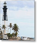 Hillsboro Lighthouse In Florida Metal Print