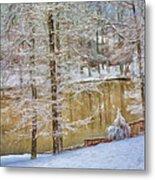 Hillside Snow - Winter Landscape Metal Print