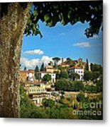 Hillside Tuscan Village  Metal Print