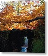 Hillwood Mansion Fall Garden Metal Print