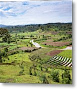 Hilly Landscape Of The Southern Ugandan Metal Print