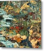 Hilly Stream - Sold Metal Print