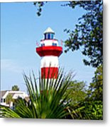 Hilton Head Lighthouse And Palmetto Metal Print