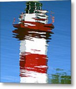 Hilton Head Lighthouse Reflection Metal Print
