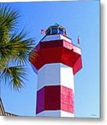 Hilton Head Lighthouse Upclose Metal Print