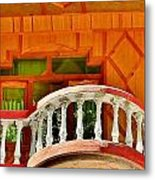 A Beautiful Balcony - Himalaya India Metal Print