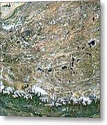 Himalaya Mountains Asia True Colour Satellite Image  Metal Print