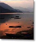 Phewa Lake, Pokhara, Nepal Metal Print