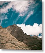 Himalyas Mountains In Tibet With Clouds Metal Print by Raimond Klavins