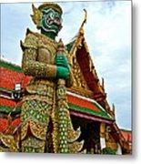 Hindu Figure At Grand Palace Of Thailand In Bangkok Metal Print